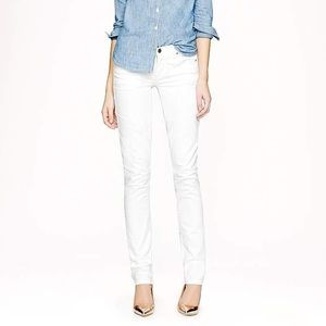 J. Crew Matchstick Jeans in White